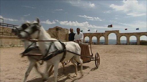 Rajan Datar chariot racing in Jordan