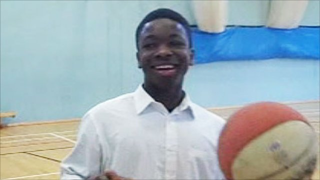 Basketball player at Thomas Hardye School