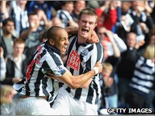 Peter Odemwingie and Chris Brunt (right)