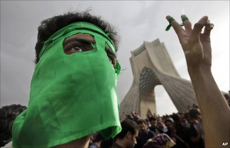 Protester in Tehran in June 2009