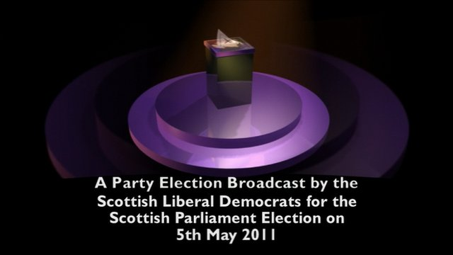 Scottish Liberal Democrat party election broadcast