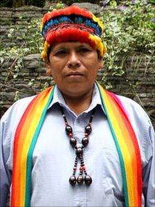 Shuar leader Pepe Acacho
