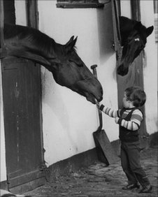 A young Donald McCain with Red Rum