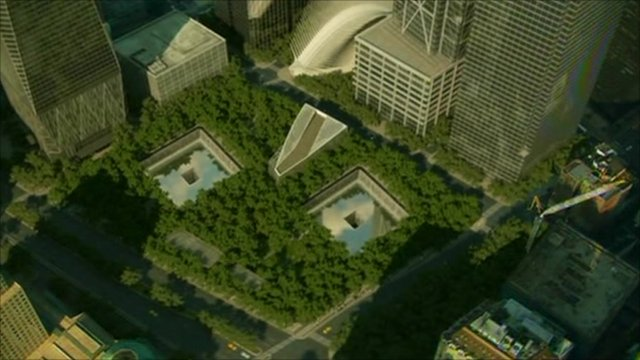 Artists impression of 9/11 memorial