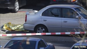 Victim of shootings in Dutch town of Alphen aan den Rijn - 9 April 2011