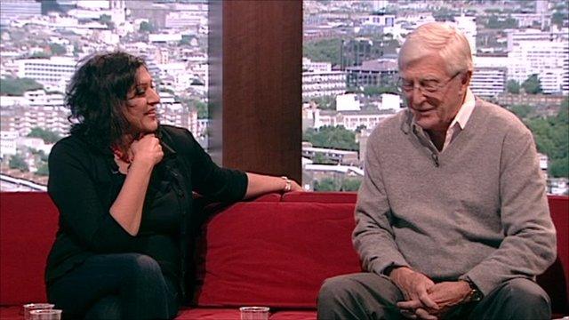Meera Syal and Sir Michael Parkinson