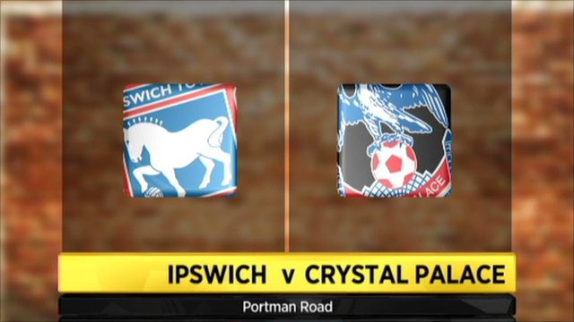 Graphic of Ipswich v Crystal Palace