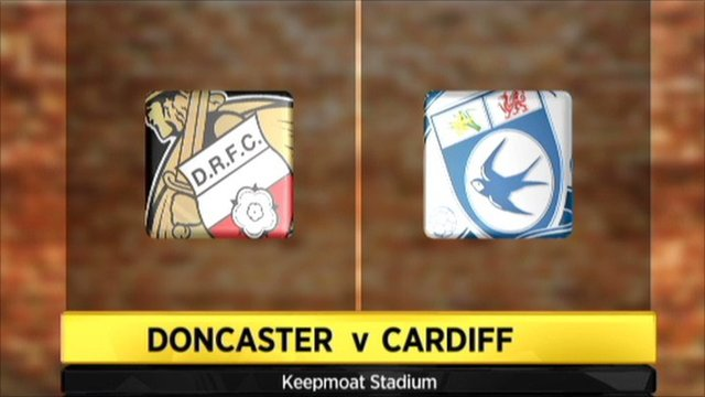 Graphic of Doncaster v Cardiff