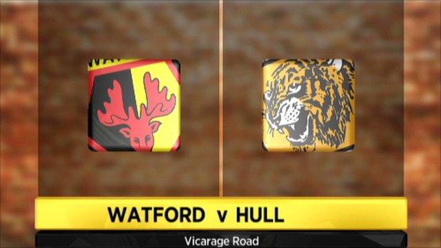 Graphic of Watford v Hull