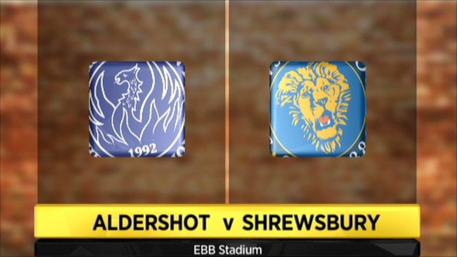 Graphic of Aldershot v Shrewsbury