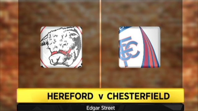 Graphic of Hereford v Chesterfield