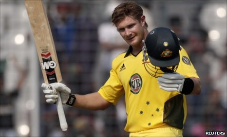 Shane Watson hits world-record 15 sixes as Aussies win