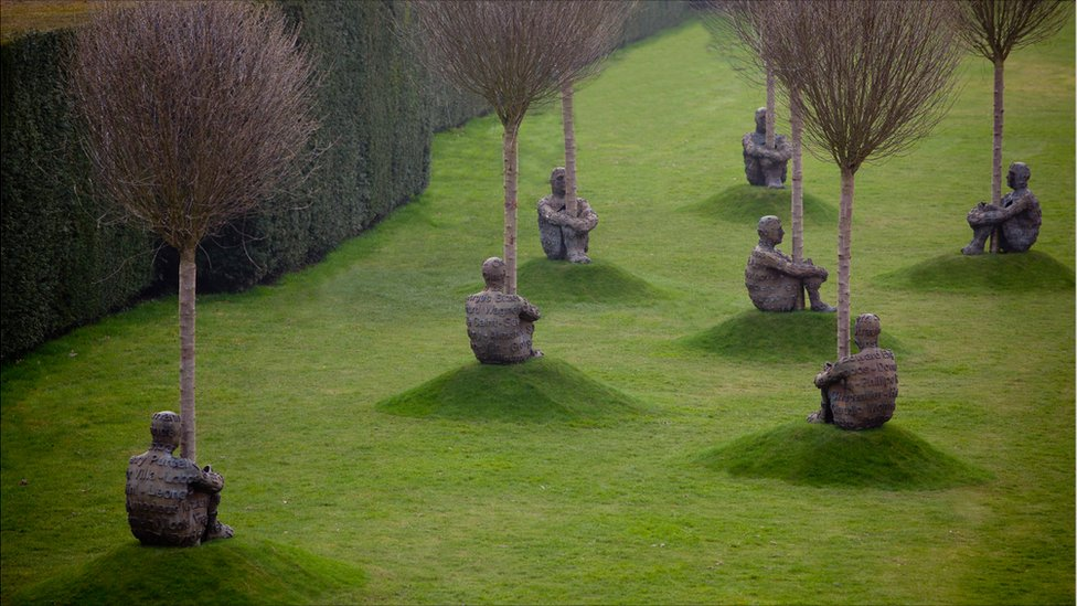 Bbc News In Pictures Jaume Plensa At Yorkshire Sculpture Park