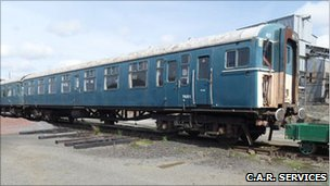 Mark 1 railway coach. Photo: C.A.R. Services