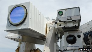 Laser on board US navy ship