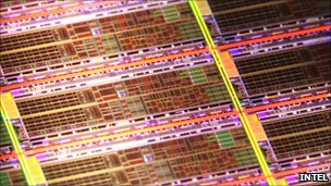 Intel atom processor close-up