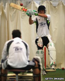 James Hildreth in action at an ECB Performance Programme Training Session