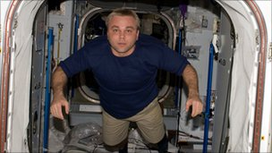 Maxim Surayev aboard the ISS