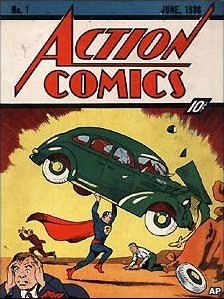 Superman first debuted in 1938. A copy of Issue #1, pictured above, recently sold for $2.16 million at an auction. (Twitter)