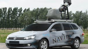 A Microsoft mapping car