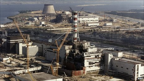 Chernobyl nuclear power plant after the explosion in April 1986 (Pic: Oct 1986)