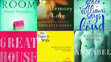 Cover details from the shortlisted books