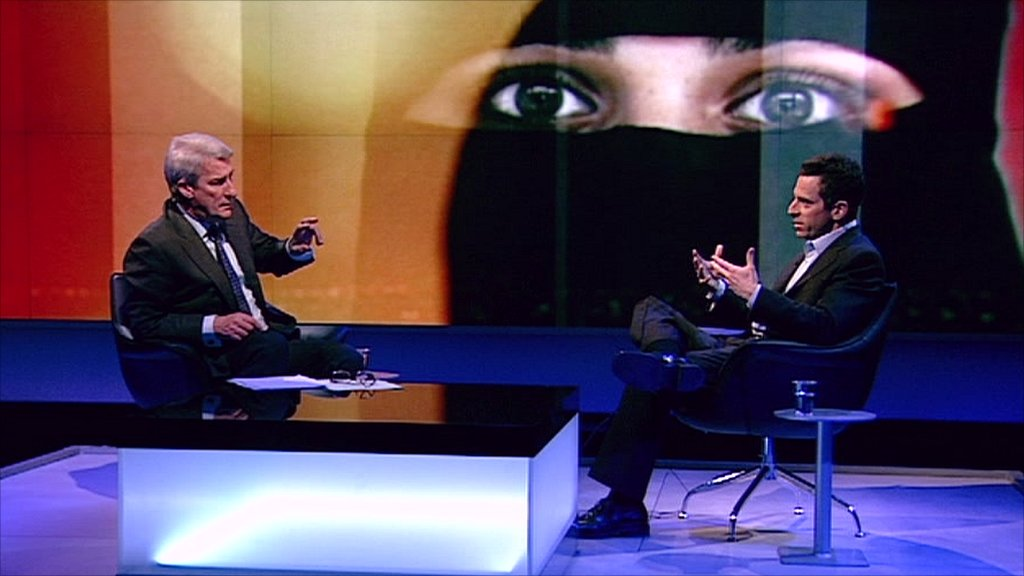 Jeremy Paxman and Sam Harris