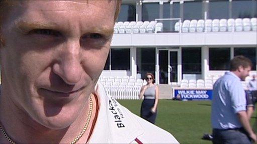 Somerset bowler Steve Kirby