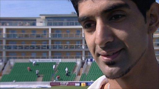 Somerset bowler Gemaal Hussain
