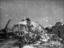 Wreckage from Munich air disaster