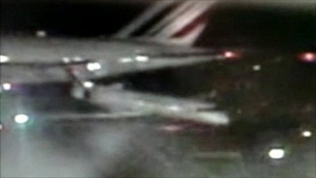 The Air France plane collides with smaller jet
