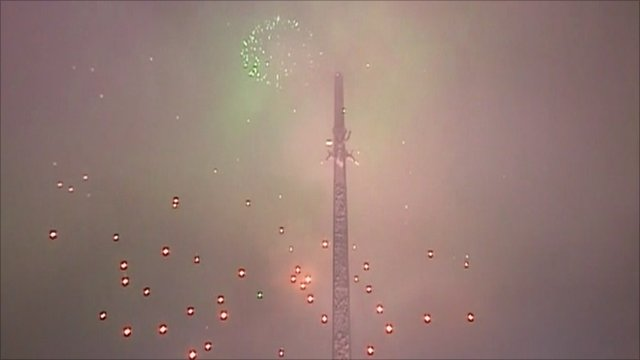 Celebratory fireworks in Moscow