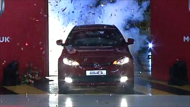 The MG6 rolls off the production line at Longbridge