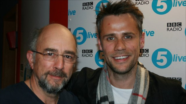 Richard Schiff with Richard Bacon