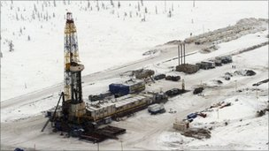 Siberian oil field
