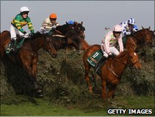 Tony McCoy (left) on Don't Push It in the Grand National