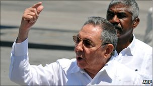 File photograph of Raul Castro