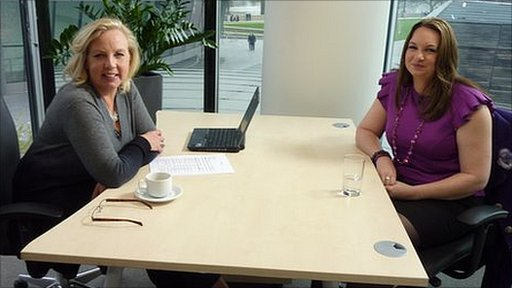 Deborah Meaden and mentee