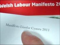 Un o gamgymeriadau Maniffesto Llafur Cymru 2011