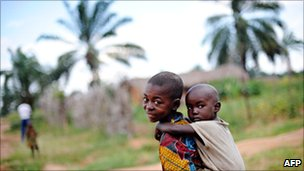 Refugee children from Burundi's civil war