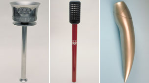 Olympic Torches: London 1948, Montreal 1976, Albertville 1992 (Pictures: International Olympic Committee)