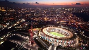 An artist's impression of the Olympic Stadium