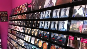Rise record store interior, Bristol