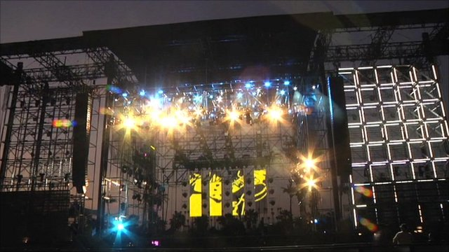 Main stage at the Coachella music festival