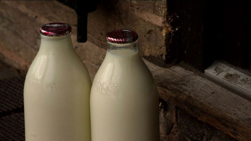 Milk out on a doorstep