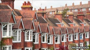 Rows of Edwardian terraced houses in Sussex