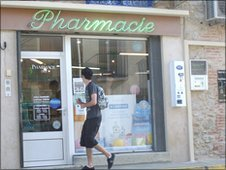 Pharmacy in Pyrenees