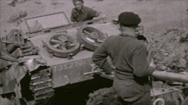 Cine footage of Gloucestershire Regiment in Korea