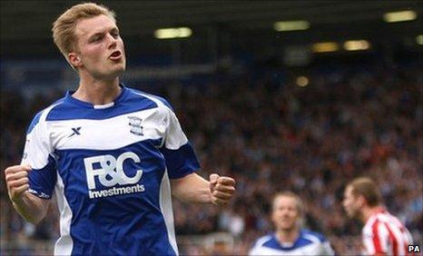 Birmingham midfielder Sebastian Larsson
