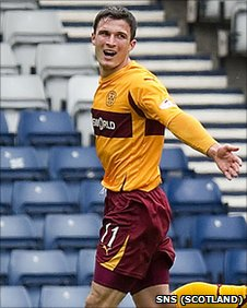 Motherwell striker John Sutton
